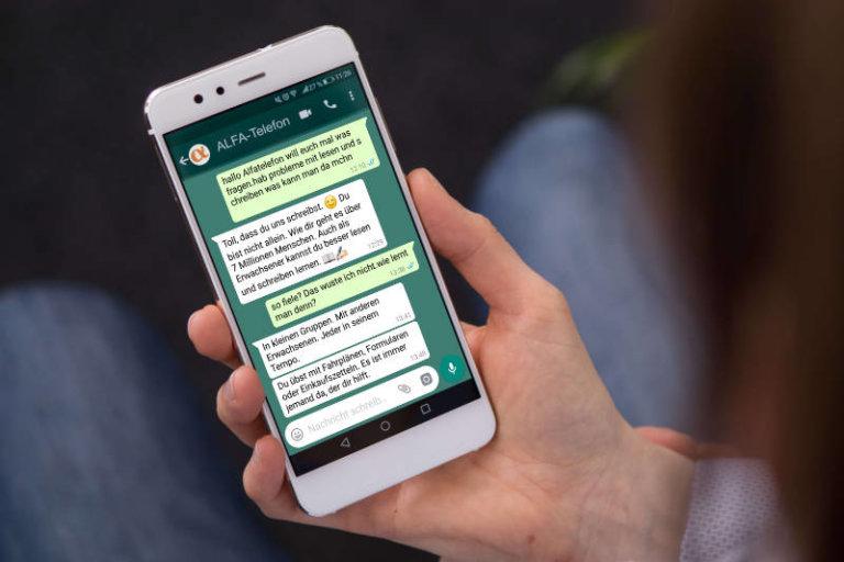 WhatsApp Beratung - ALFA-Telefon   Schreib dich nicht ab
